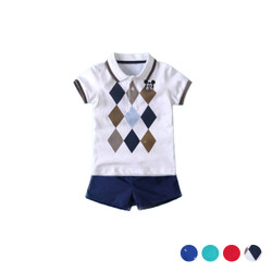 Polo Design Short Sleeve Tee & Shorts Set