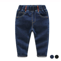 Elastic Band Pocket Denim Jeans