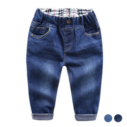 Elastic Band Denim Blue Jeans