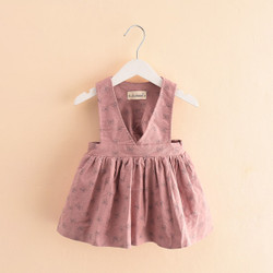 Ribbon Print Pinafore Dress