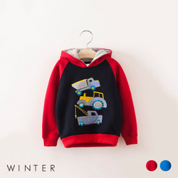 Winter Layered Trucks Hoodie Sweater