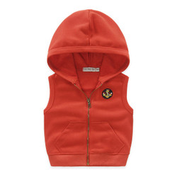 Hooded Zipper Vest