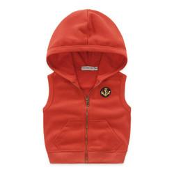 Hooded Zipper Vest