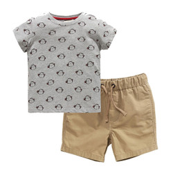 Printed Monkey Tee & Shorts Set (JC3-007)