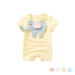 Casual Patched Elephant Romper