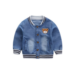 Patched Bear Soft Denim Jacket