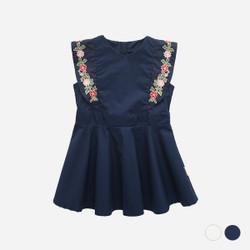 Embroidered Floral Sleeve Skater Dress