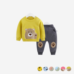 Two Piece Bear Design Sweater & Pants Set
