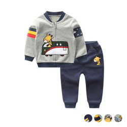 Cartoon Printed Sweater & Pants Set