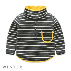Winter Stripe Turtleneck Sweater