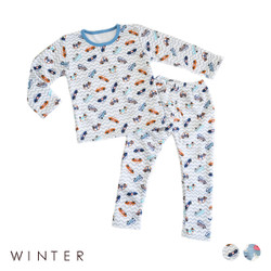 Winter Fleece Printed Pajamas Set
