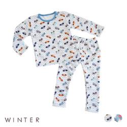 Winter Fleece Printed Pajamas Set
