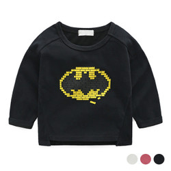 Cartoon Bricks Logo Long Sleeve Tee