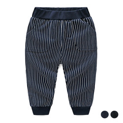 Contrast Band Stripe Long Pants
