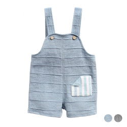 Multi Stripe Patched Pocket Overalls