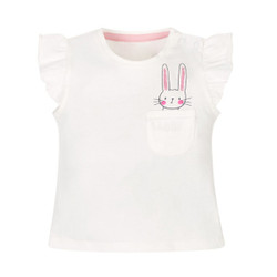 Casual Frill Pocket Bunny Tee