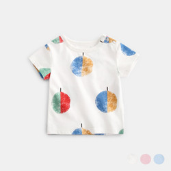 Printed Graphic Colored Ball Tee