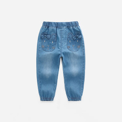 Ribbon Cat Pocket Soft Denim Jeans