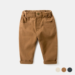 Elastic Band Pocket Khaki Pants