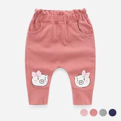 Cartoon Piggy Elastic Band Long Pants