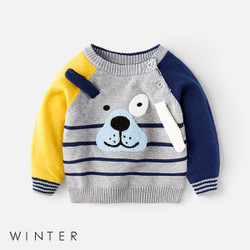 Winter Cartoon Puppy Ears Sweater