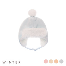 Winter Covered Button Fleece Hat