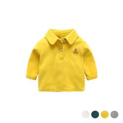 Bear Logo Long Sleeve Polo Tee