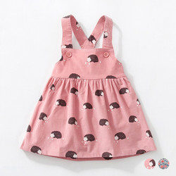 Button Printed Dress Overalls