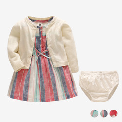 Three Piece Cardigan & Dress Set