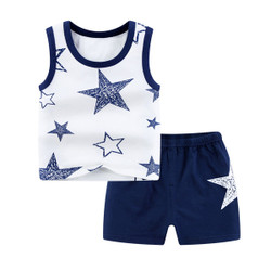 Casual Star Sleeveless Tee & Shorts Set