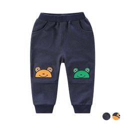 Patched Knee Elastic Band Soft Sweat Pants