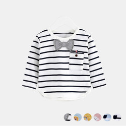 Casual Stripe Logo Long Sleeve Tee
