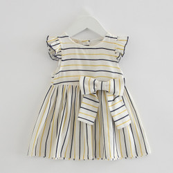 Bow Ribbon Stripe Dress