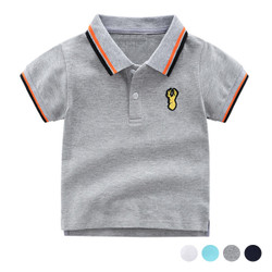 Contrast Striped Collar Polo Tee