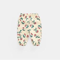 Printed Garden Cherries Cotton Cuff Pants