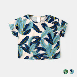 Casual Printed Summer Forest Tee