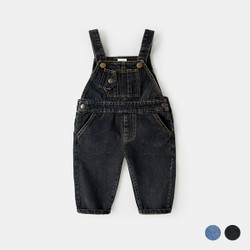 Front Pocket Denim Overalls