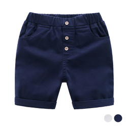 Faux Front Button Short Pants