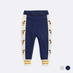 Printed Side Bears Knit Long Pants