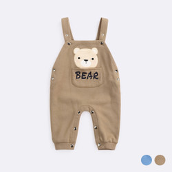 Printed Bear Pocket Soft Overalls