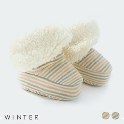 Winter Stripe Fleece High Booties (Pack of 2)