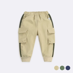 Elastic Band Pocket Cargo Long Pants