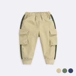 Elastic Band Pocket Cargo Long Pants