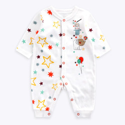 One Piece Multicolor Star Long Sleeve Romper