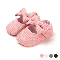 Soft Baby Girl Bow Shoes