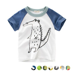 Casual Printed Cartoon Colored Tee
