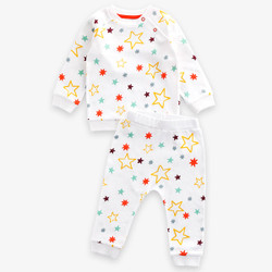 Printed Starry Colorful Pajamas Set