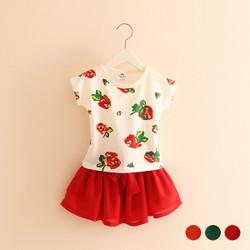 Casual Floral Shirt & Skirt Set