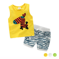 Cartoon Sleeveless Top & Shorts Set