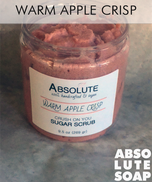 Limited Edition - Warm Apple Crisp Crush on You Sugar Scrub - Absolute Soap
